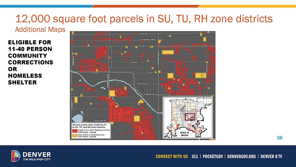 12,000 square foot parcel map central denver