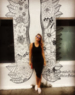 Alice Popova in Los Angeles; getting inspired on Abbot Kinney Blvd