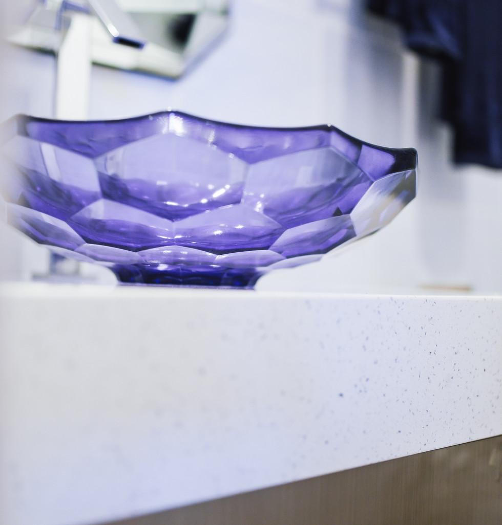 Guest Bath Blue Marble