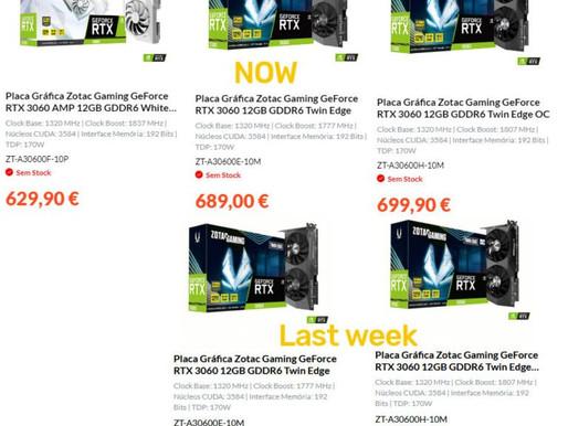 Önce Bir Çıksaydı: Satıcılar, GeForce RTX 3060 Fiyatını Şimdiden Yükseltmeye Başladı