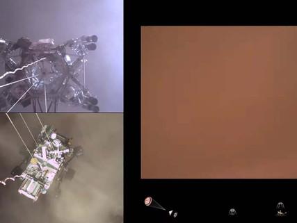 NASA, Perseverance'ın Mars'a İniş Görüntülerini Paylaştı: İlk Ses de Geldi