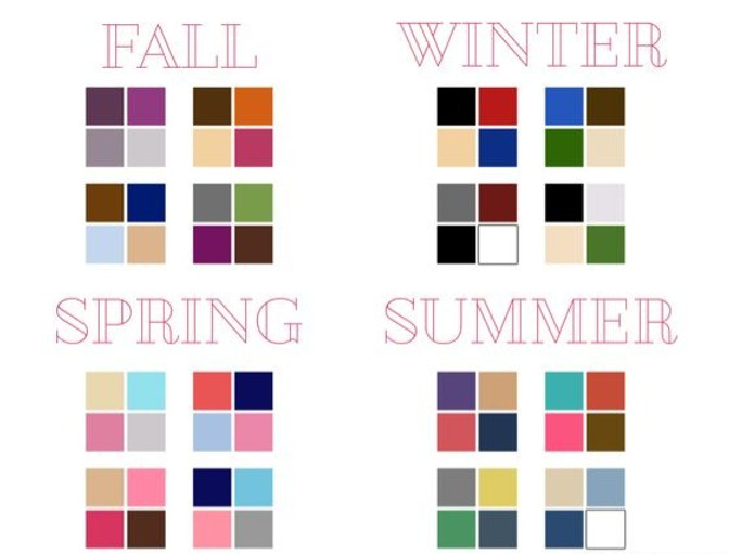 Color suggestions by season