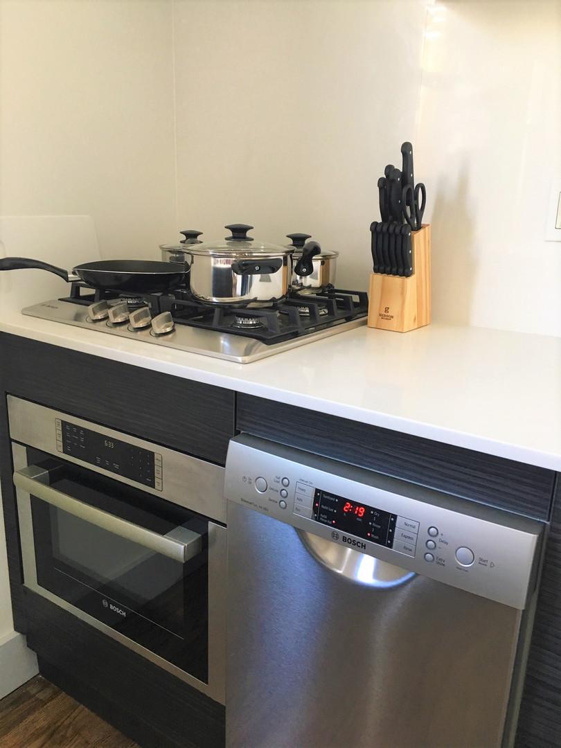 Full sized kitchens