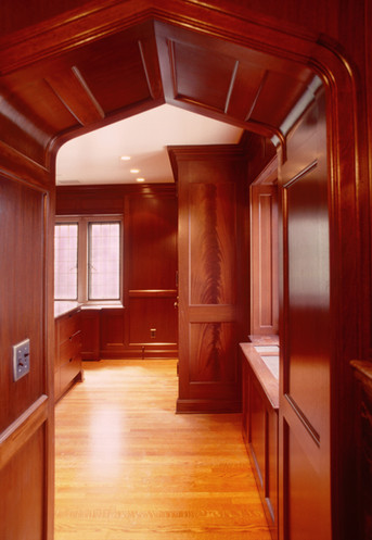 Dressing room cabinetry and paneling