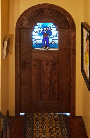 Arched door, jambs and trim