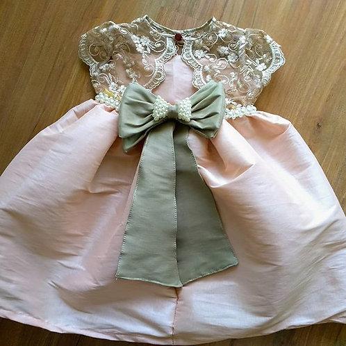 Vestido de Luxo Infantil - Rose Dourado