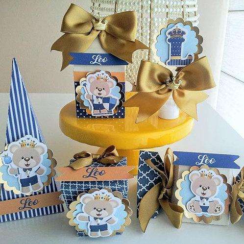 Kit Personalizados 5 Peças - Urso Príncipe
