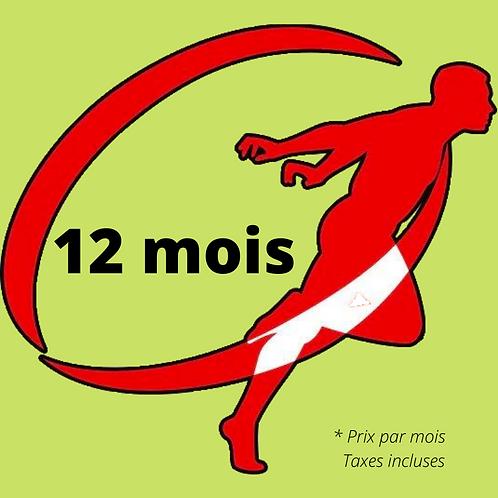 12 mois - PROMO RÉOUVERTURE