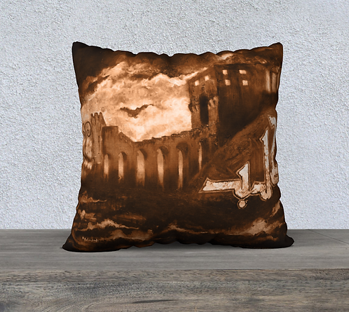 Aleppo Brown Pillow