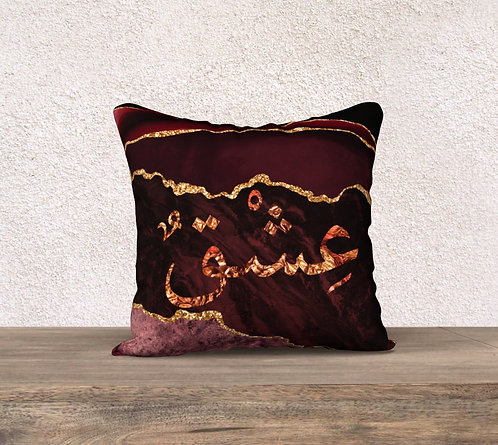 Burgundy Agate Pillow cover