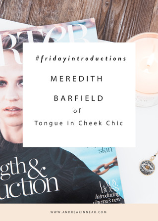 MEREDITH BARFIELD of TONGUE IN CHEEK CHIC
