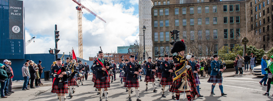 Combined pipe and drum bands