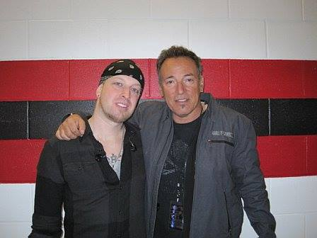 Mark Klepaski and Bruce Springsteen