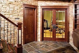Distinctive Stained Stile and Rail Wood Doors