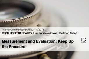 Measurement and Evaluation: Keep Up the Pressure