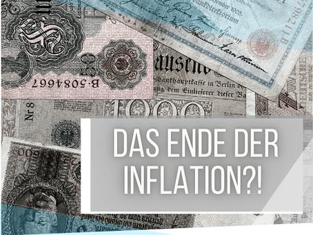 Die Preise steigen langsamer - das Ende der Inflation?