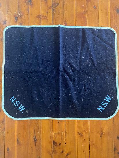 FELT SADDLE BLANKET - FULL SIZE 'NSW' (0029)