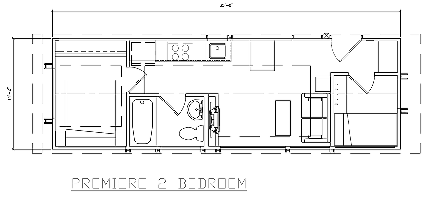Premiere 2 bedroom floor plan