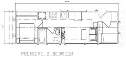Premiere 2 bedroom floor plan