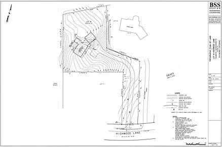 DRAFT Topographic Plan of Land  Lot 8 Hi