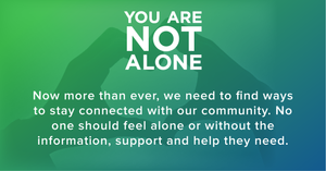 Reach out for support and help