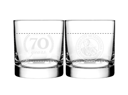 70th Anniversary Collectible Glass