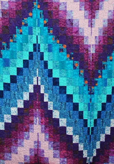 Blue Purple Bargello Quilt