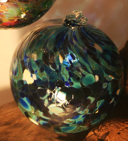 Shades of blue glass ornament