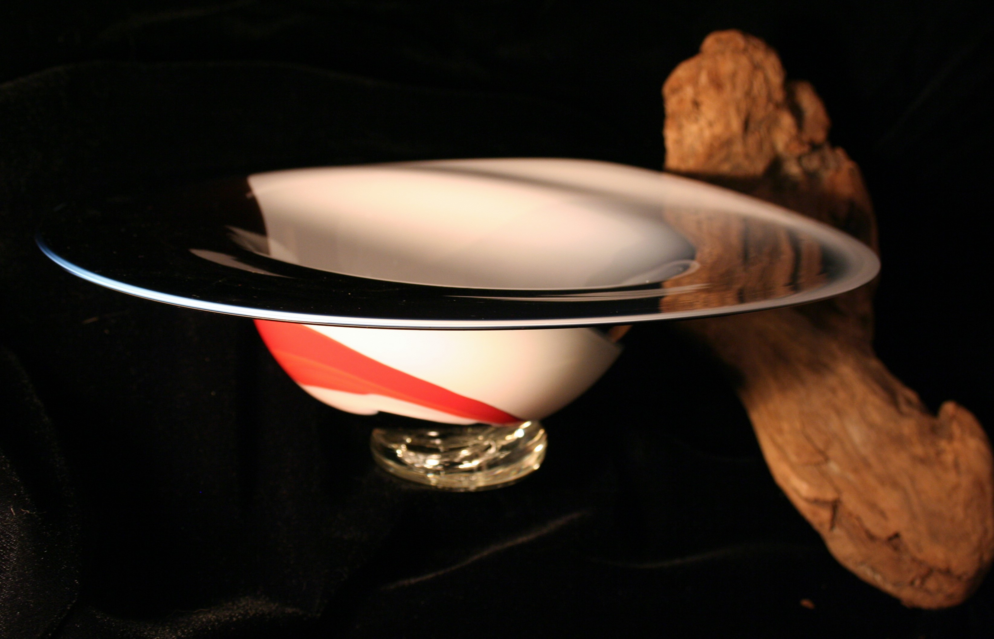 Black, White and Red Bowl