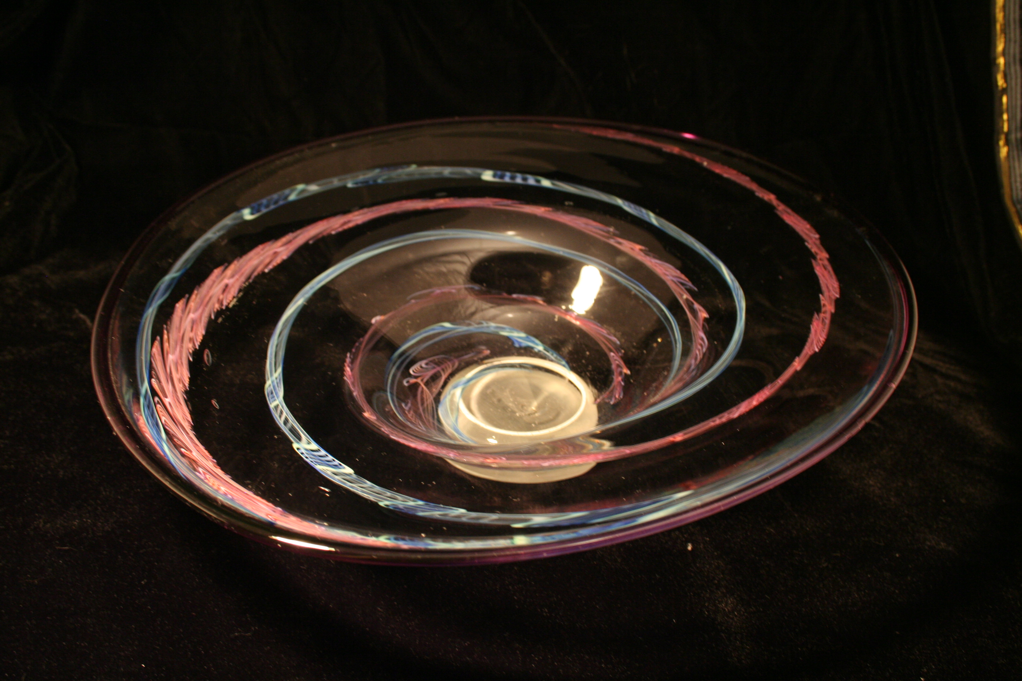 Pink and Blue Cane Plate