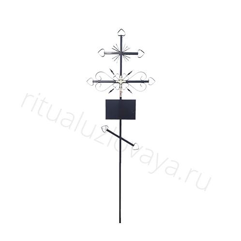 Православный ритуальный крест для установки на кладбище