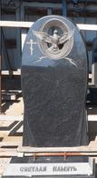 Памятник ручной работы с резьбой по камню - гранит, голубка
