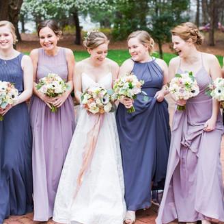 Kristen's wedding party