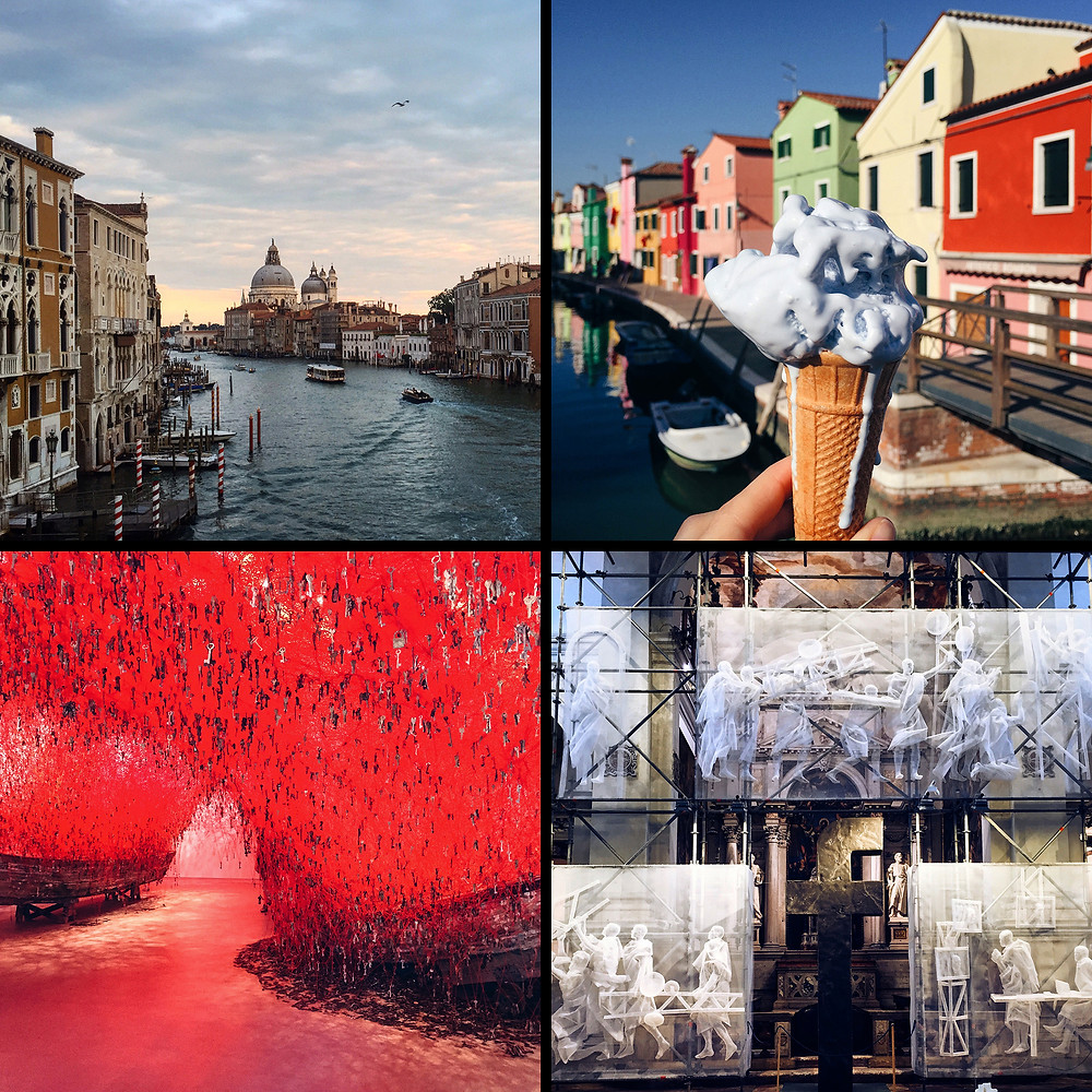 Венеция, остров Бурано, инсталляция Тихару Сиота, инсталляция Recycle