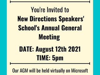 Join us for our AGM on August 12th, 2021!