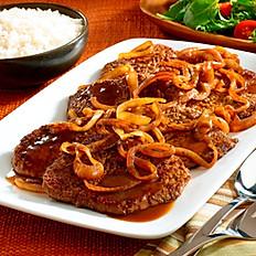 Steak and Onions / Bistec Encebollado