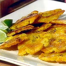 Fried Green Plantains  /  Tostones