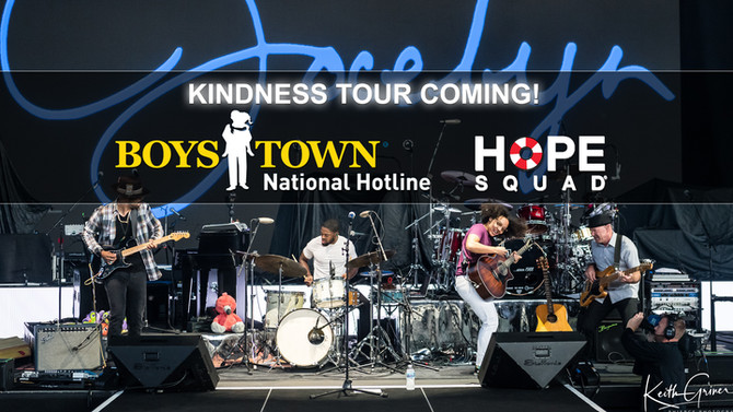 HOPE squad Joins Jocelyn and Boys Town National Hotline on the kindness tour!