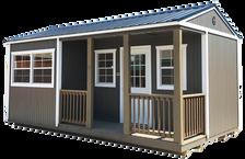 Graceland- 12x20- Corner Porch Cabin