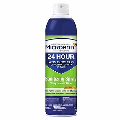 Microban Professional 24 Hour Disinfectant Sanitizing Spray 15 oz , Citrus Scent