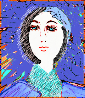 Woman Bathed in Blue