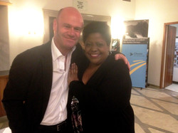 With the great Carmen Bradford