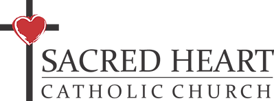 Sacred Heart Formal Logo with Red Heart.