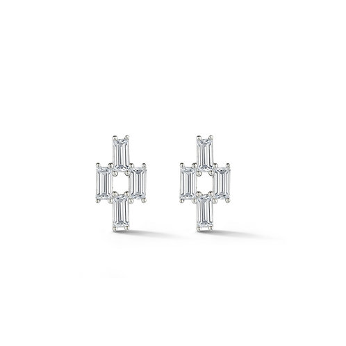 Baguette Sapphire Earrings