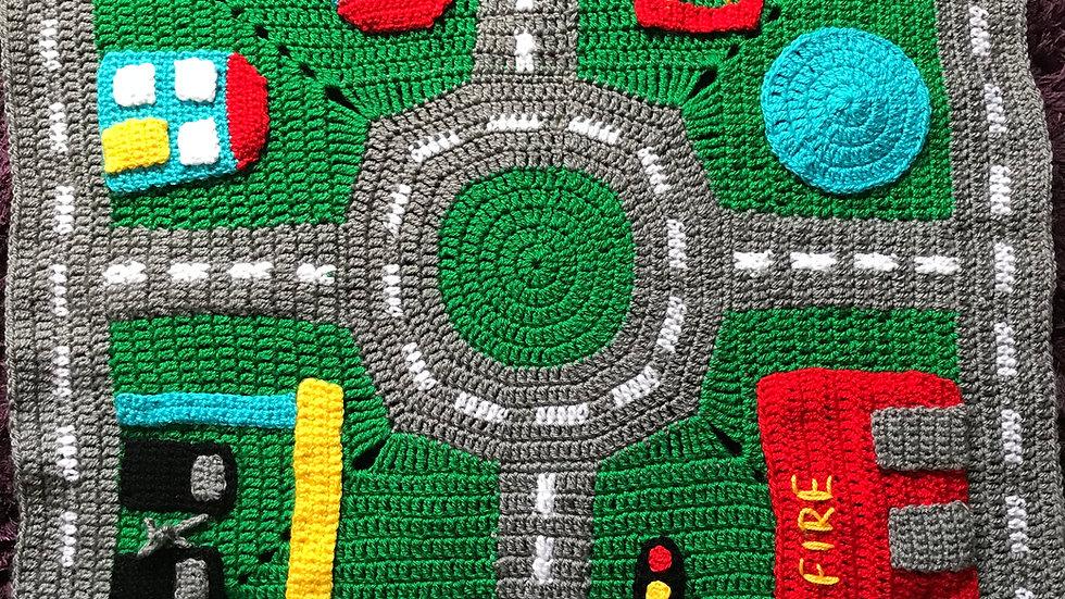 Road playmat crochet pattern