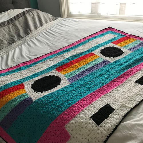 Yay For Crochet Cassette Tape Blanket 3.