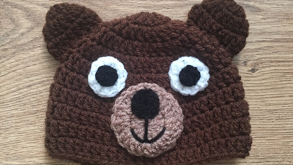 Bear Crochet Hat Pattern