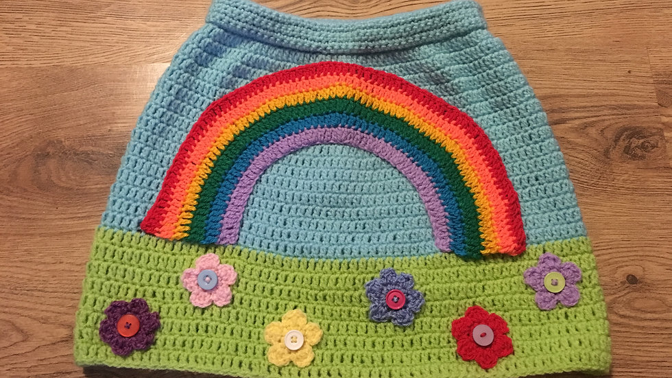 Kids Rainbow Skirt Crochet Pattern