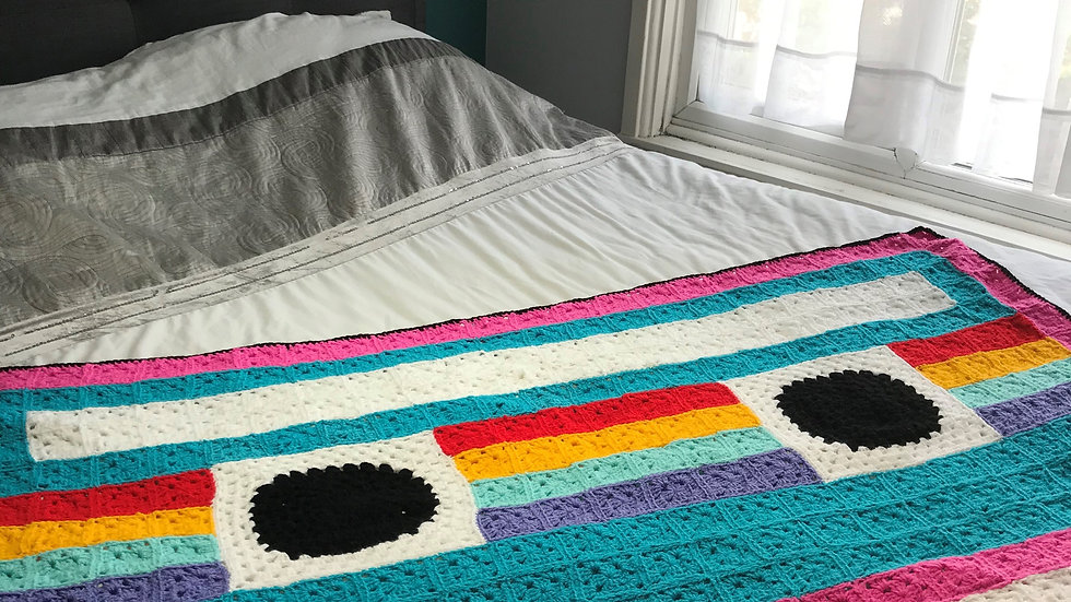 Cassette Tape Crochet Blanket Pattern