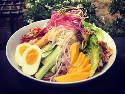 Somen Salad w Roasted Puna Chicken
